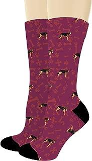 Paw Print Dog Socks for Dog Lovers German Shepherd Socks German Shepherd Gifts Novelty Crew Socks