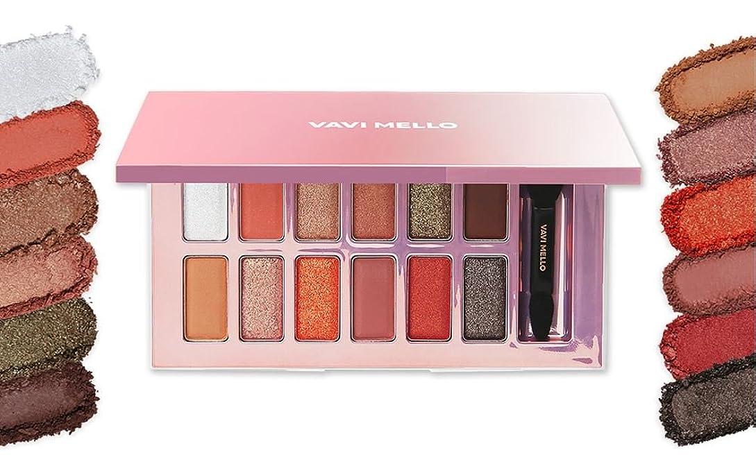 バレーボール水没波紋[New] VAVI MELLO Valentine Box 2 ' Peach Palette ' 11g/バビメロ バレンタイン ボックス 2 ' ピーチ パレット ' 11g [並行輸入品]