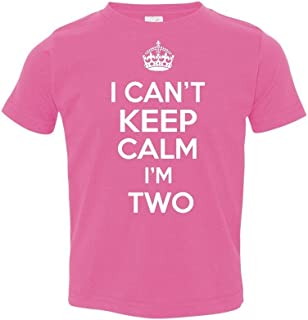 P&B My Birthday! I Can't Keep Calm I'm Two Toddler T-Shirt