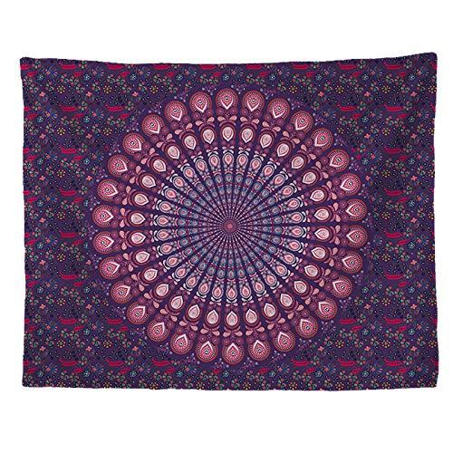 AdoDecor Tapiz de Mandala para Colgar en la Pared, tapices de colchón de Viaje, Alfombra de Playa Bohemia, Manta, hogar, Dormitorio, Alfombra artística 150x200CM
