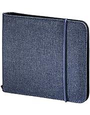Hama 95681 Funda cartera 24discos Azul funda para discos ópticos - Fundas para discos ópticos (Funda cartera, 24 discos, Azul, Poliéster, 163 mm, 22 mm)