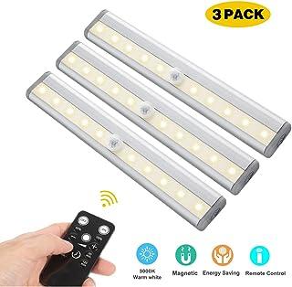 LED Unterbauleuchten 3 Pack Fernbedienung Kuche Unter Kabinett Beleuchtung Schwenkbar Lichtleiste Kuchenleiste Timer Kuchenlampe