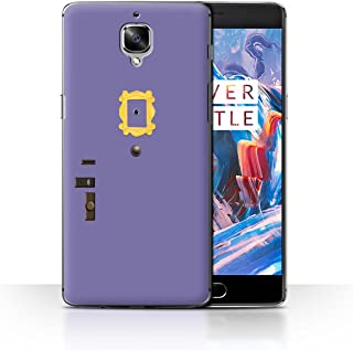 Phone Case for OnePlus 3/3T Funny Sitcom TV Parody Monica's Purple Door Design Transparent Clear Ultra Slim Thin Hard Back Cover