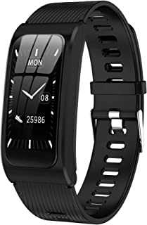 Pulsera de fitness con medición de la presión arterial IP68, resistente al agua, pulsómetro, reloj deportivo para mujer y hombre, iOS y Android, reloj inteligente con monitor de sueño
