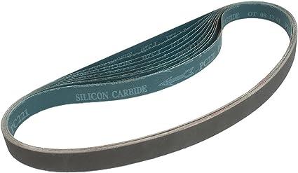 220 Grit Silicon Carbide Black Cloth Backing Pack of 10 VSM 202584 Abrasive Belt Fine Grade 1 Width 42 Length