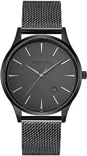CRRJU Men's Minimalist Quartz Wrist Watch, Fashion Stainless Classic Watch with Steel Band for Men
