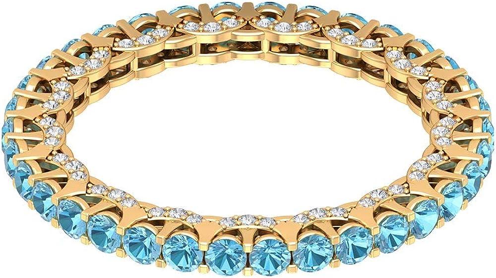 1.36 Ct Certified Aquamarine Gold sale Memphis Mall 0.37 Cl Ring Diamond Women