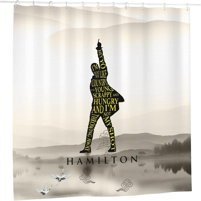 Max 87% OFF Hamilton Shower Curtain Classic Cur Bathtub Liner Translated