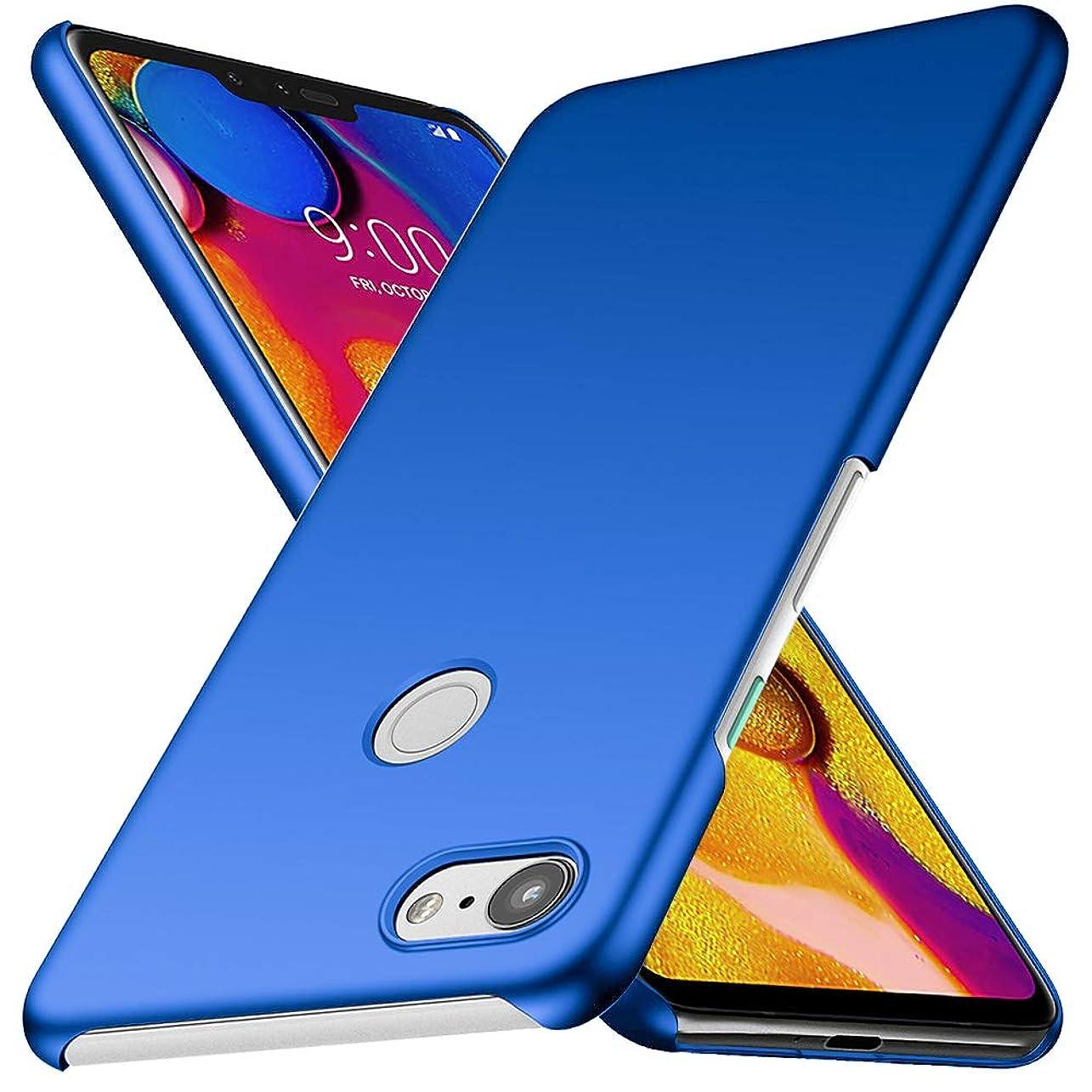 伴う七面鳥モディッシュGoogle Pixel 3 ケース QICASE Pixel 3 レンズ保護 耐衝撃 指紋防止 超薄型 超耐磨 軽量 Google Pixel 3 スマートフォンケース (ブルー)