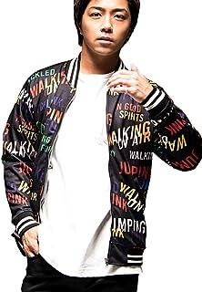 (キャバリア)CavariA メンズ ジャケット ブルゾン ロゴ プリント マルチ リブ ライン 英字 上着 羽織【-】