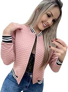 Hunauoo Womens Blazer Jacket Casual Zip Up Warm Coat Slim Thermal Casual Jackets