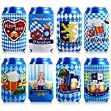 8 Pieces Neoprene Insulated Beer Can Sleeves Oktoberfest Can Cooler Bavarian Summer Slim Beer Can Cooler Sleeves Blank Beer Can Coolers for Wedding Birthday Wine Oktoberfest Party