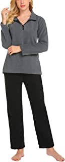 Women's Loungewear Plush Cozy Fleece Pajamas Set S-XXL
