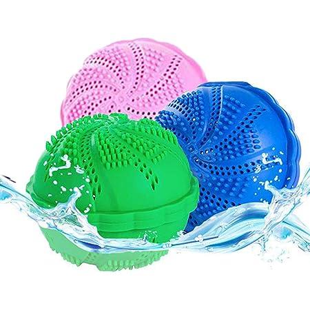 XM-ZHHY Lot de 2 balles de lavage respectueuses de l'environnement, 1000 balles de lavage réutilisables pour machine à laver, renforce l'effet de lavage et empêche l'enchevêtrement.