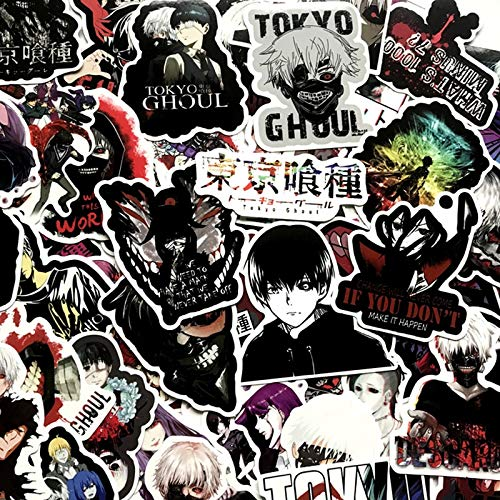 ZZHH Japan Anime for Luggage Laptop Skateboard Bicycle Backpack Decal Pegatinas Toy Stickers for Children Gift 50Pcs