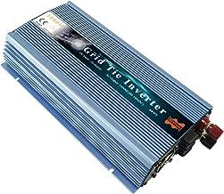 Marsrock 1000W Grid Tie Solar Inverter, 20-50V DC to AC 120V/220V Pure Sine Wave Inverter for 1000-1200W 24V, 30V, 36V PV Module or Wind Turbine (AC120V Blue)