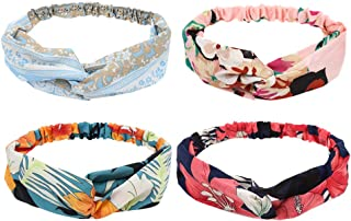 CCINEE Headbands for Women, 4 Colors Headbands Elastic Hair Bands Hair Wrap Hair Accessories-4Pieces