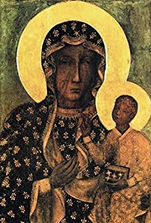 Black Madonna Poland Our Lady of Czestochowa POSTER A2 Polish Madonna print Blessed Holy Mary and Child Jesus Catholic art Religious oil paintings