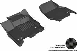 3D MAXpider Front Row Custom Fit All-Weather Floor Mat for Select Ford F-150 SuperCrew Models - Kagu Rubber (Black)