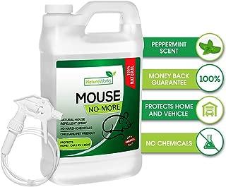 Mouse-No-More I Rodent Repellent Spray I Mice Rat & Squirrel Deterrent I Car & RV Defense | Natural Organic Peppermint Oil | Indoor + Outdoor | Pet Safe (Half-Gallon 64oz)