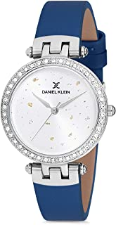 Daniel Klein Womens Quartz Watch, Analog Display and Leather Strap DK12199-7