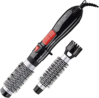 "Revlon Ceramic Hot Air Brush Kit with 1"" & 1-1/2"" Brush Attachments"