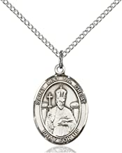 Sterling Silver Catholic Patron Saint Medal Pendant, 3/4 Inch