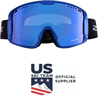 Zipline Hybrid XT Ski/Snowboard Goggles for Men, Women & Youth with Ripclear Lens Protection Film - US Ski Team Official Supplier