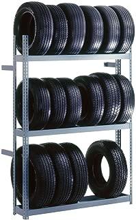 Edsal TRB6012 Industrial Gray Heavy Duty Steel Rivet Lock Boltless Tire Rack, 1000lbs Capacity, 60