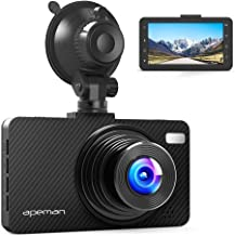 "APEMAN Dash Cam Dashboard FHD 1080P Car Camera DVR Recorder with 3.0"" LED Screen, Super Night Vision, G-Sensor, WDR, Loop Recording, Motion Detection"