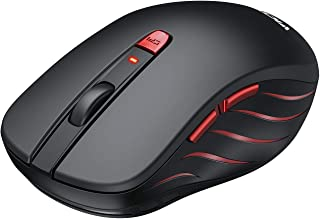 VicTsing Wireless Mouse, 2.4G Portable Ergonomic Optical Mouse,6 Buttons 5 Adjustable DPI -50% Higher Work Efficiency, A Long Battery Life for Laptop, Notebook, PC, Mac-Black