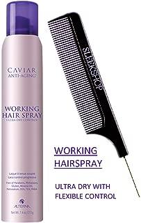 Alterna CAVIAR Anti-Aging WORKING HAIR SPRAY (Stylist Kit) Ultra-Dry, Flexible Hold Hairspray (7.4 OZ / 211 G - ORIGINAL SIZE)