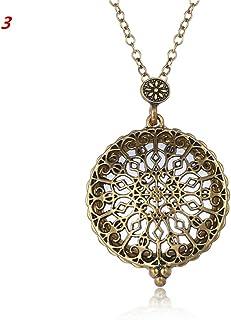 WE-WHLL Vintage Chain Lupa Collar Caliente Colgante Grandma Gift Metal Magnifier-3