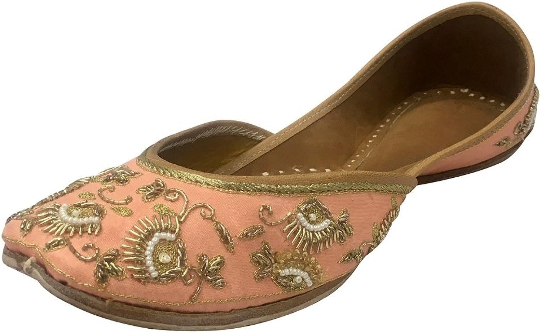 Step n Style Women Flat Sandals Indian Traditional Jutti Khussa shoes Wedding Mojari