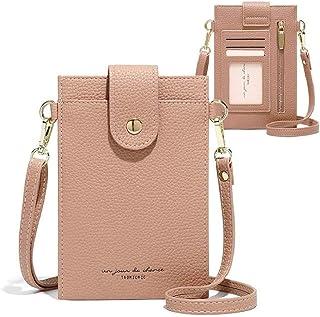 Handytasche zum Umhängen Damen Kleine Handy Umhängetasche Crossbody Handtasche Leder Brieftasche Schultertasche Mini Reise...