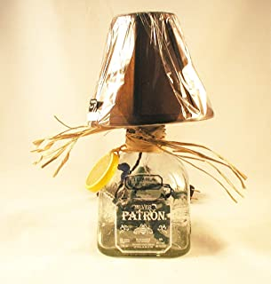 Small Mini Clear Patron Silver Tequila Table Lamp or Nite Light. 750ml.