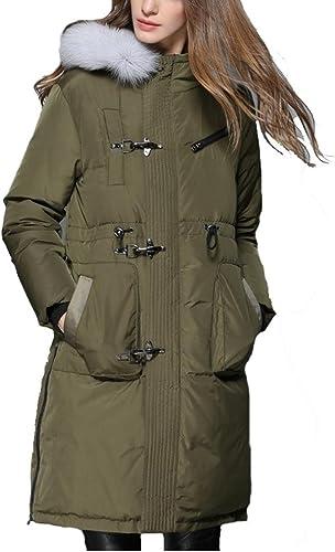 YANXH Sports La Nouvelle Grande Taille vers Le Bas de Veste Femelle dans la Longue Section épaississant des modèles de Couples Manteau