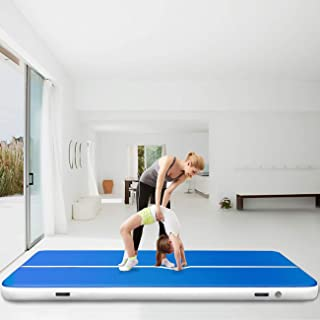 Happybuy Inflatable Gymnastics Tumbling Mat Air Tumbling Track w/Electric Pump Air Floor Mat for Home Use/Cheerleading/Beach/Park and Water (1X3M / 3.2X9.8FT)