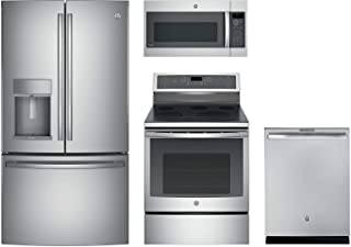 GE Profile 4-Pcs Kitchen Package with PYE22KSKSS 36