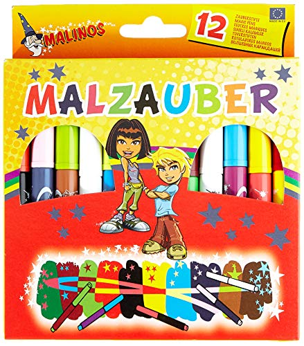 MALINOS 300005 Malzauber 12 Stifte, 12er Set Zauberstifte