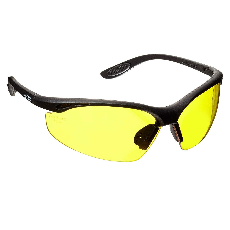 voltX 'CONSTRUCTOR' Gafas de Seguridad que cumplen con la certificación CE EN166F / Gafas para Ciclismo (AMARILLO – sin dioptría) Safety Glasses