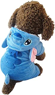 Z-YQL Disney Stitch Cartoon Pet Custume Coat, Pet Outfit, Pet Pajamas Clothes Hoodie Coat for Any Party Halloween Christmas