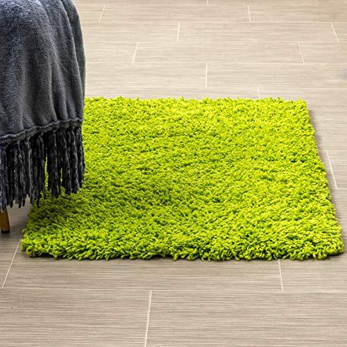Super Area Rugs Cozy Home Decor Shag Rug, 2' x 3', Bright Green