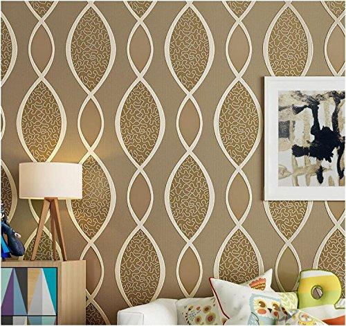 Yosot eenvoudige moderne niet-geweven stof 3D stereo behang woonkamer tv achtergrond muur slaapkamer verdikking behang champagne kleur