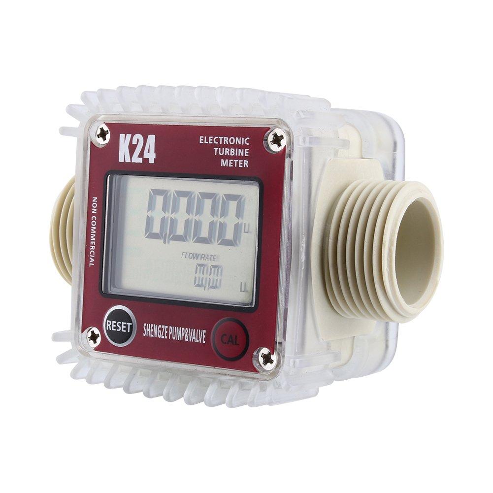 free K24 LCD Turbine Digital Store Diesel Flow Anti-corrosion fo Fuel Meter