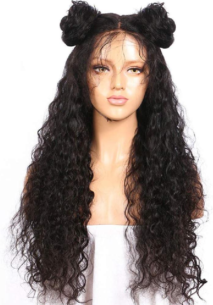 Princess - Peluca de encaje caliente, 360 pelucas, pelo natural de bebé rizado, 100% cabello natural brasileño virgen humano natural, densidad del ...