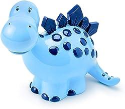 Mousehouse Gifts Blue Dinosaur Kids Money Box, Cute Piggy Bank for Girls and Boys (Dims: 7cm x 16cm x 13cm)