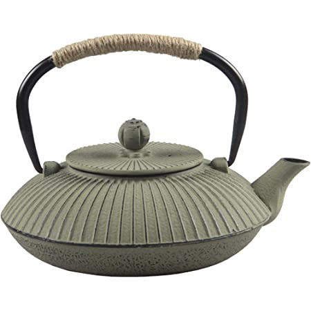 Cast Iron Teapot,SECHUDO Tea Kettle,Japanese Cast Iron Teapot with Stainless Steel Infuser for Stovetop Safe (26.4oz/CIT002)