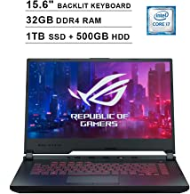 2020 NexiGo ROG G531GT 15.6 Inch FHD 1080P Gaming Laptop| Intel 6-Core i7-9750H up to 4.50 GHz| NVIDIA GeForce GTX 1650 4GB| 32GB DDR4 RAM| 1TB SSD (Boot) + 1TB HDD| Backlit KB| Windows 10| Black
