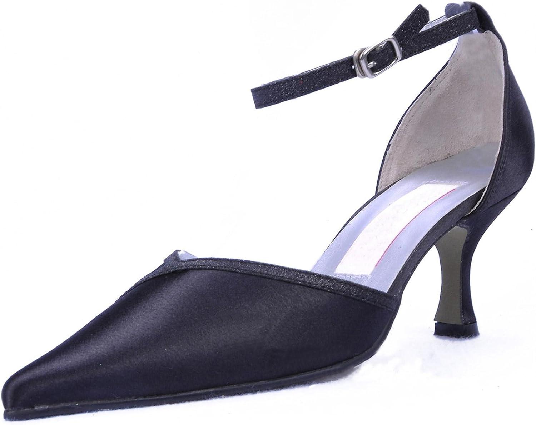 Minishion GYMZ695 Womens Ankel Strap Satin Evening Party Prom Bridal Wedding shoes Pumps Sandals Flatfs